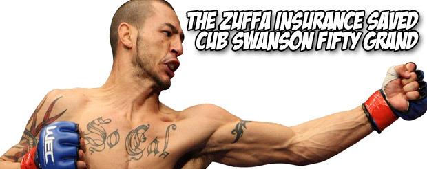 The Zuffa insurance saved Cub Swanson fifty grand