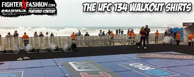 The UFC 134 walkout shirts