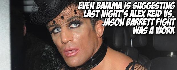 Even BAMMA is suggesting last night's Alex Reid vs. Jason Barrett fight was a work