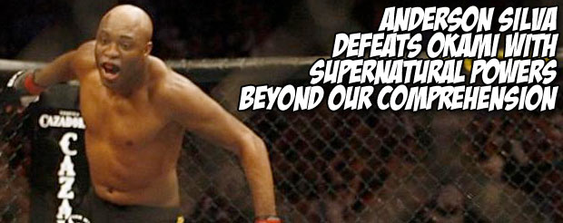Anderson Silva defeats Okami with supernatural powers beyond our comprehension