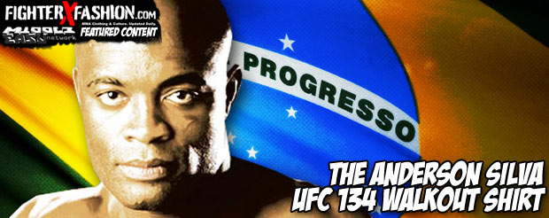 The Anderson Silva UFC 134 walkout shirt