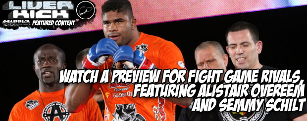 Watch a preview for Fight Game Rivals, featuring Alistair Overeem and Semmy Schilt