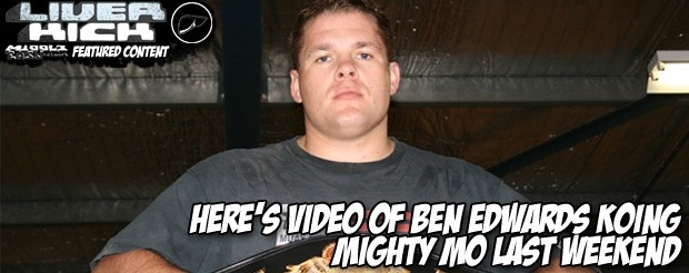 Here's video of Ben Edwards KOing Mighty Mo last weekend