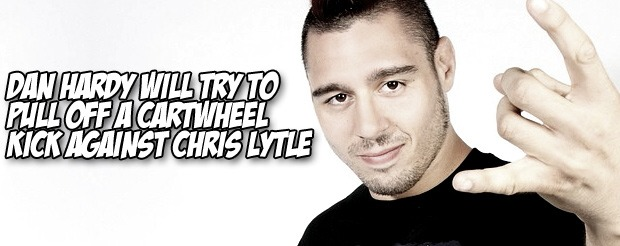 Dan Hardy will try to pull off a cartwheel kick against Chris Lytle