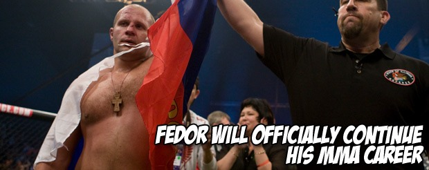 Fedor WILL officially continue his MMA career