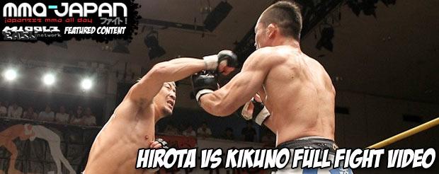 Hirota vs Kikuno full fight video