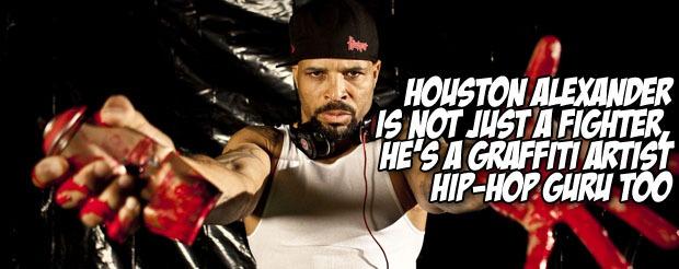 Houston Alexander is not just a fighter, he's a graffiti artist hip-hop guru too