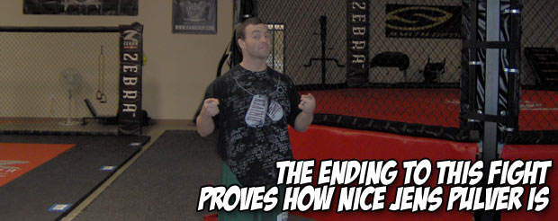 The ending to this fight proves how nice Jens Pulver is