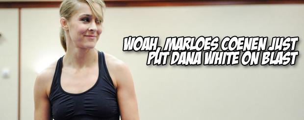 Woah, Marloes Coenen just put Dana White on blast