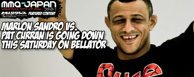 Marlon Sandro vs. Pat Curran is going down this Saturday on Bellator
