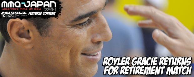 Royler Gracie returns for retirement match