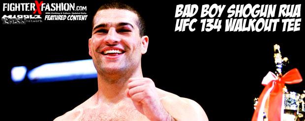 Bad Boy Shogun Rua UFC 134 walkout tee