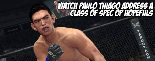 Watch Paulo Thiago address a class of spec op hopefuls