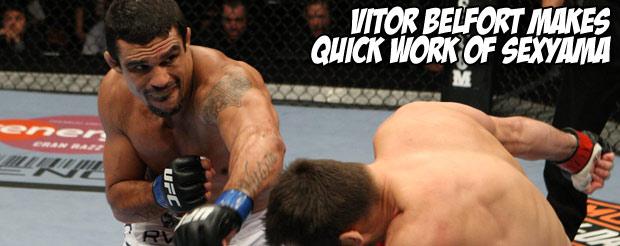 Vitor Belfort makes quick work of Sexyama