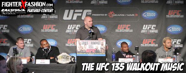 The UFC 135 walkout music