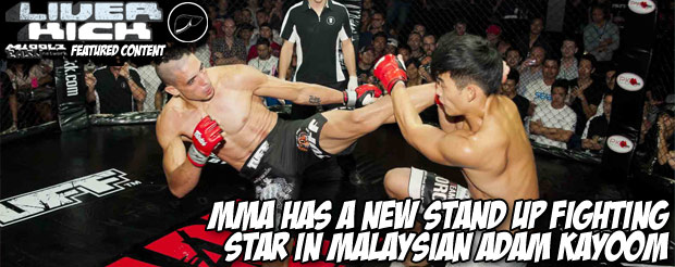 MMA has a new stand up fighting star in Malaysian Adam Kayoom