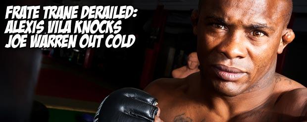 Frate Trane derailed: Alexis Vila knocks Joe Warren out cold