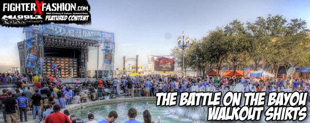 The Battle on the Bayou walkout shirts