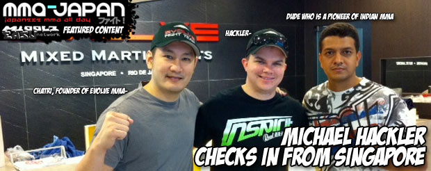 Michael Hackler checks in from Singapore