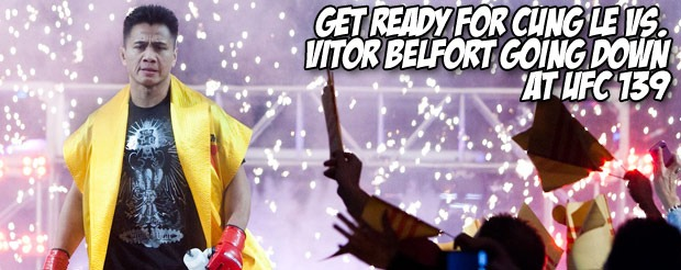 Get ready for Cung Le vs. Vitor Belfort going down at UFC 139
