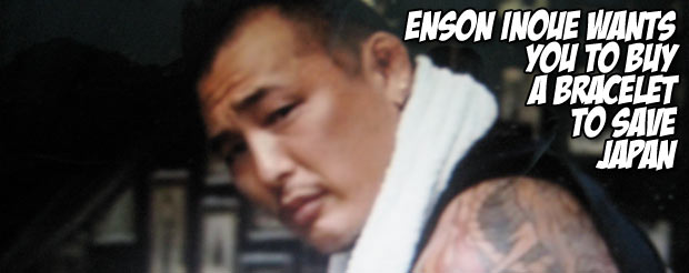 Enson Inoue wants you to buy a bracelet to save Japan