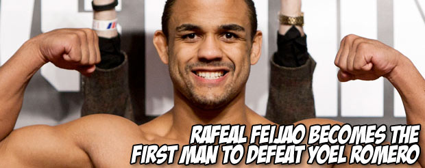 Rafeal Feijao becomes the first man to defeat Yoel Romero