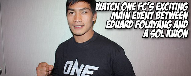 Watch ONE FC's exciting main event between Eduard Folayang and A Sol Kwon