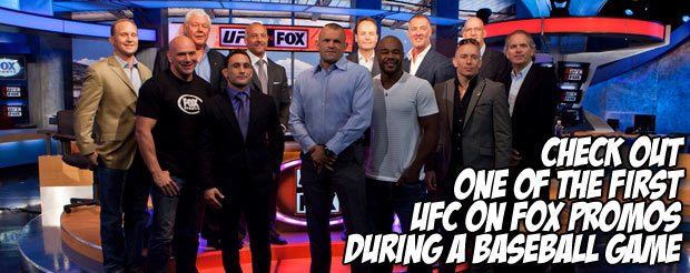 Check out one of the first UFC on Fox promos during a baseball game