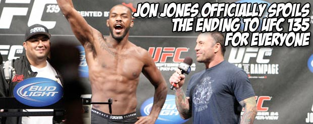 Jon Jones officially spoils the ending to UFC 135 for everyone