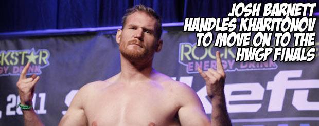 Josh Barnett handles Kharitonov to move on to the HWGP finals