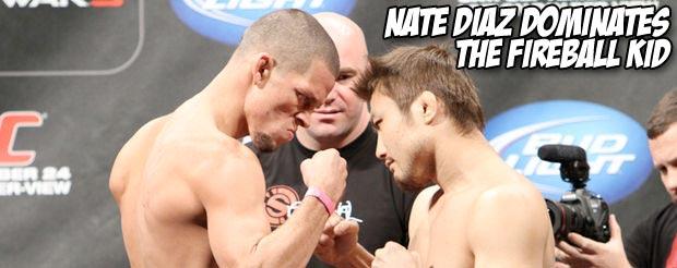 Nate Diaz dominates The Fireball Kid