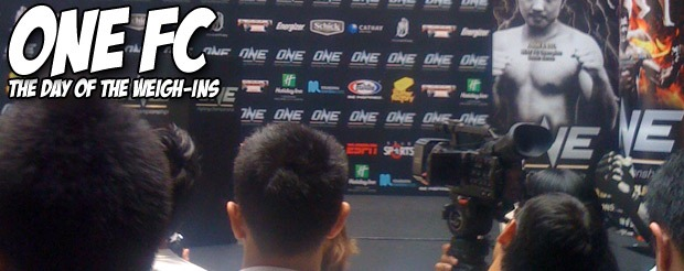 One FC: The Day of the Weigh-Ins