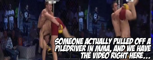 Someone actually pulled off a piledriver in MMA, and we have the video right here…
