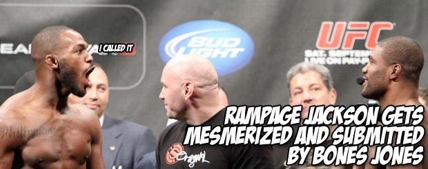 Rampage Jackson gets mesmerized and submitted by Bones Jones