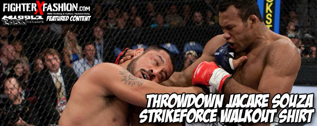 Throwdown Jacare Souza Strikeforce walkout shirt