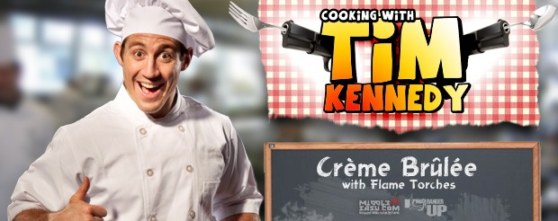 Cooking with Tim Kennedy: Crème Brûlée with flame torches