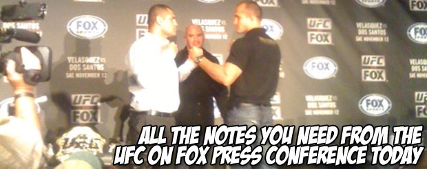 All the notes you need from the UFC on FOX press conference today