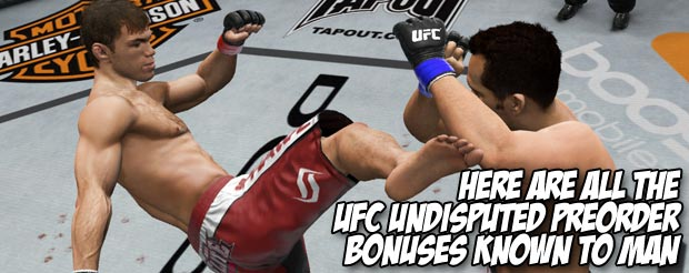 Here are all the UFC Undisputed preorder bonuses known to man