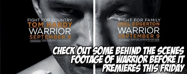 Check out some behind the scenes footage of Warrior before it premieres this Friday
