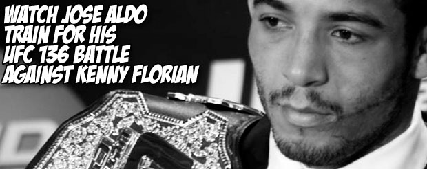 Watch Jose Aldo train for his UFC 136 battle with Kenny Florian