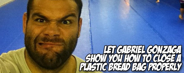 Let Gabriel Gonzaga show you how to close a plastic bread bag properly
