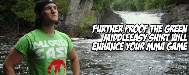 Further proof the Green MiddleEasy shirt will enhance your MMA game