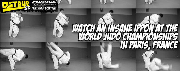 Watch an insane Ippon at the World Judo Championships in Paris, France