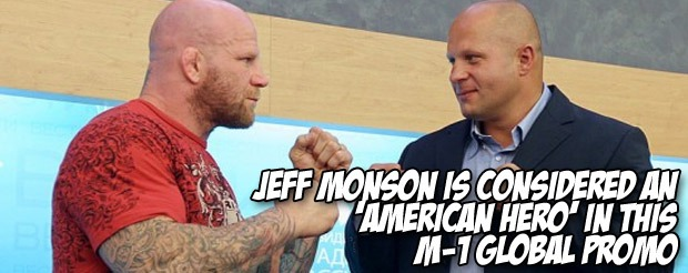 Jeff Monson is considered an 'American Hero' in this M-1 Global promo
