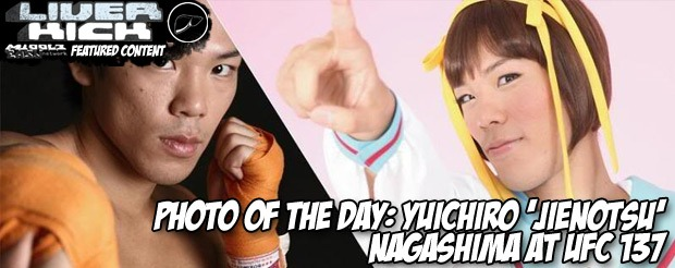 Photo of the day: Yuichiro 'Jienotsu' Nagashima at UFC 137
