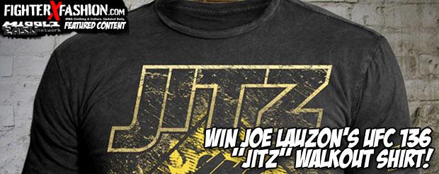 """Win Joe Lauzon's UFC 136 """"JITZ"""" walkout shirt!"""