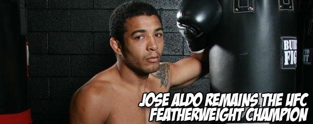 Jose Aldo remains the UFC Featherweight Champion