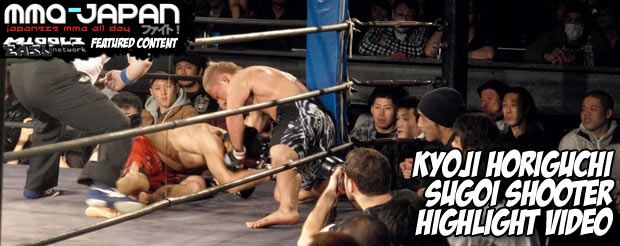 This performance by Kyoji Horiguchi at last weekend's Shooto should have its own theme song