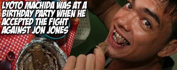 Lyoto Machida was at a birthday party when he accepted the fight against Jon Jones