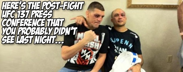 Here's the post-fight UFC 137 press conference that you probably didn't see last night…
